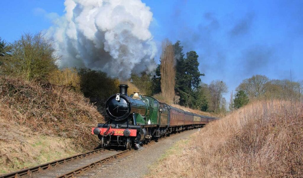 Severn Valley railway locomotive which featured in Enola Holmes