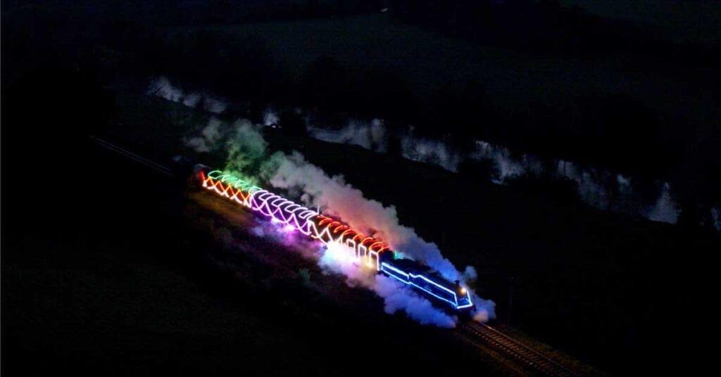 Severn Valley Railway Christmas lights