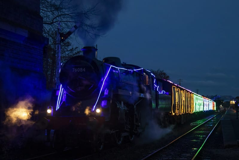 North Norfolk Railway Christmas lights