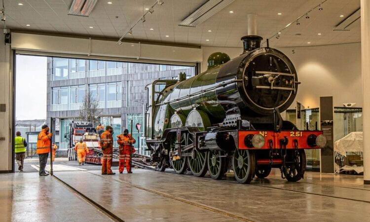 No. 251 arrives at Doncaster Plant