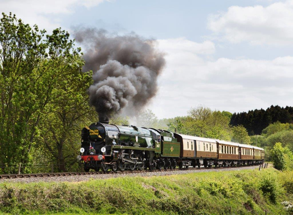 Popular SR Bulleid Pacific No. 34027 Taw Valley is among the steam locomotives available to 'adopt'. SVR